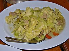 Stir fried cabbage with pork